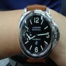 台中流當品拍賣 流當手錶 原裝 PANERAI 沛納海 PAM005 手上鍊 不銹鋼 男錶 9成5新 盒單齊 ZR262