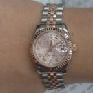 流當手錶拍賣 原裝 新款勞力士 179171 玫瑰金半金 粉紅十鑽紀念面盤 女錶 9成9新 特價出清