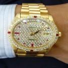 台中流當手錶拍賣 勞力士 18038 滿天星 K金 男錶 喜歡價可議